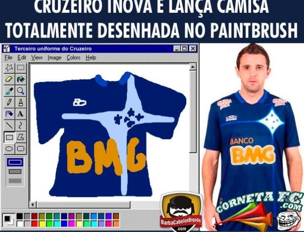 Corneta FC  Cruzeiro inova no design da terceira camisa 9f22fd44fb6ec