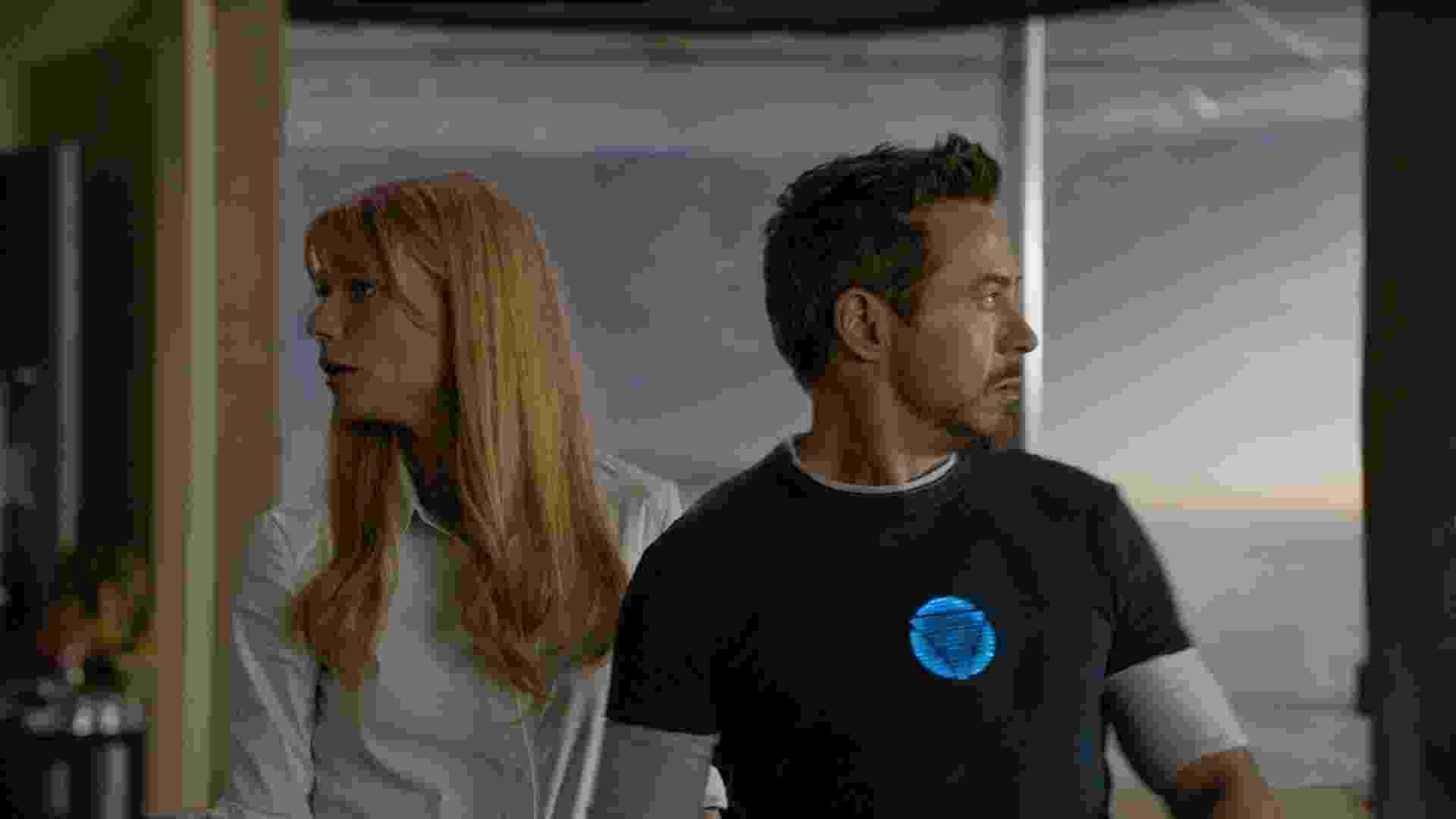 """Gwyneth Paltrow e Robert Downey Jr. em cena de """"Homem de Ferro 3"""", dirigido por Shane Black - Divulgação/Marvel"""