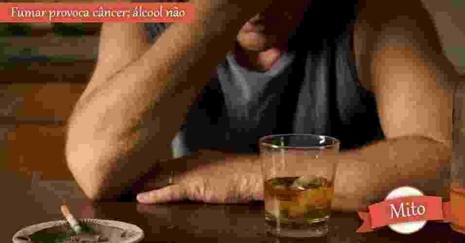 homem, alcool, cigarro, depressão - Shutterstock