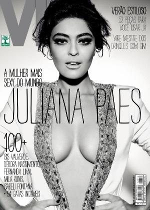 """Juliana Paes na capa da revista """"Vip"""", edição de novembro de 2012"""