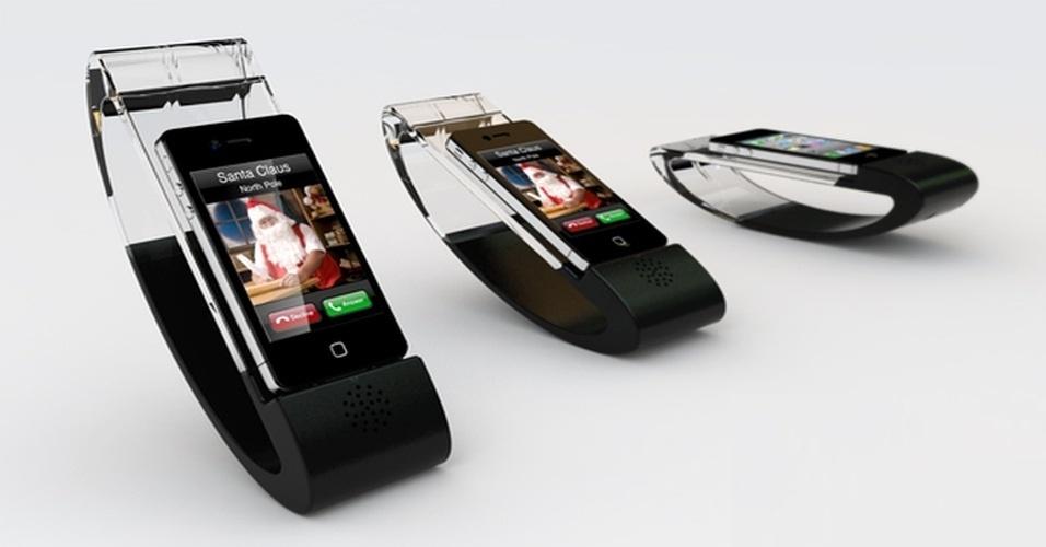 24.out.2012 - O designer Che-Yu Lu criou esse conceito de base para iPhone chamado