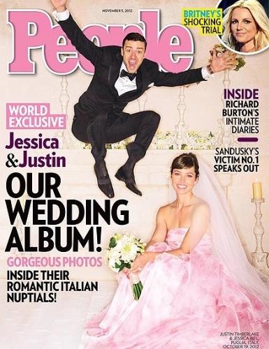 Em seu casamento com Justin Timberlake, realizado no sul da Itália, a atriz Jessica Biel resolveu sair do