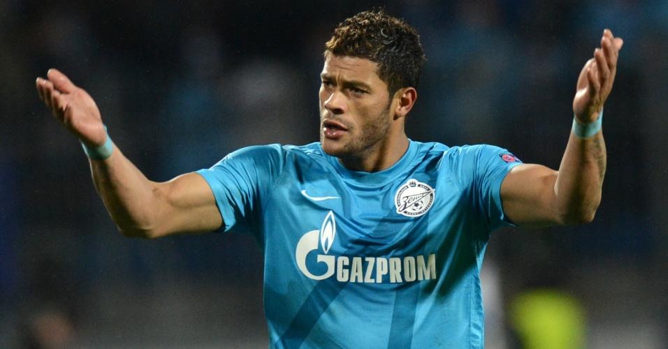Hulk não teve boa atuação, mas o Zenit venceu o Anderlecht pela fase de grupos da Liga dos Campeões (24/10/2012)