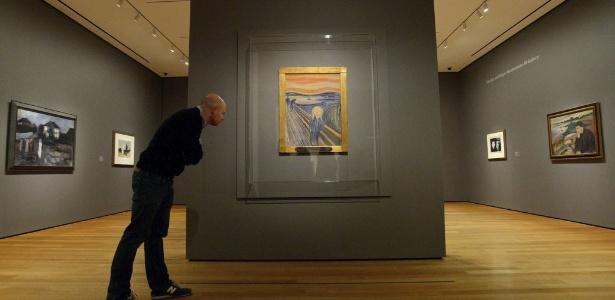 Quadro de Edvard Munch, exposto pela primeira vez no MoMA, em Nova York (24/10/12)  - EFE/Justin Lane