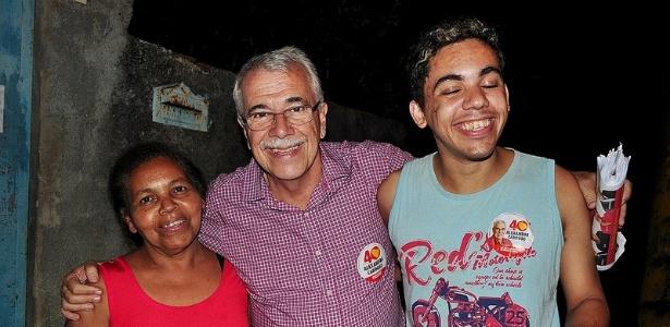Alexandre Cardoso (centro) teve apoios de Lula, Dilma e Lindbergh na disputa contra o nome de Cabral