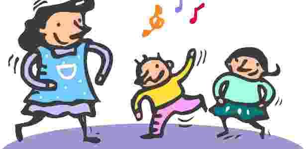 Cantar e dançar são atividades que a babá pode fazer com as crianças de dois a quatro anos - Thinkstock