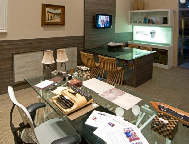 A arquiteta Renata Targino desenvolveu o estúdio em homenagem ao humorista Chico Anysio, na Casa Cor CE - Esdras Guimarães/ Divulgação