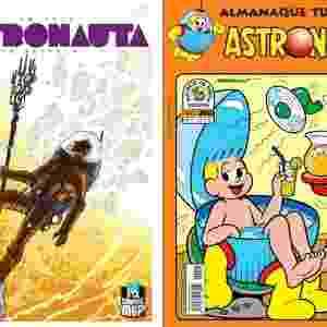 Duas versões do personagem Astronauta, a Graphic Novel (esq.) e a clássica (dir.) - Fotomontagem/UOL