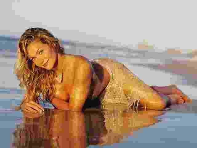 Ex-apresentadora de programas esportivos no Sportv e na Band, a loira Luize Altenhofen é recordista de aparições: 2002, 2003, 2004, 2006 e 2008 - Divulgação