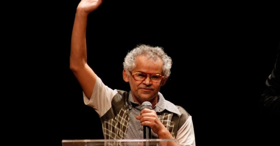 Gero Camilo no palco do Prêmio Trip Transformadores 2012, que aconteceu no Auditório do Ibirapuera, em São Paulo. Segundo os organizadores, a premiação foi criada para buscar e reconhecer pessoas notáveis na sociedade brasileira (24/10/12)