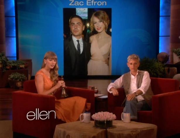 Taylor Swift fala sobre ex-namorados no programa da Ellen DeGeneres (25/10/12)