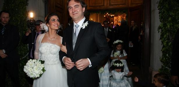 Ticiana Villas Boas e Joesley Batista em seu casamento, em 2012