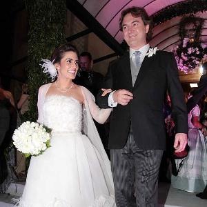 A apresentadora Ticiana Villas Boas em seu casamento com o empresário Joesley Batista