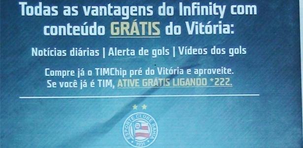 Operadora de celular comete gafe e troca rivais da Bahia em propaganda