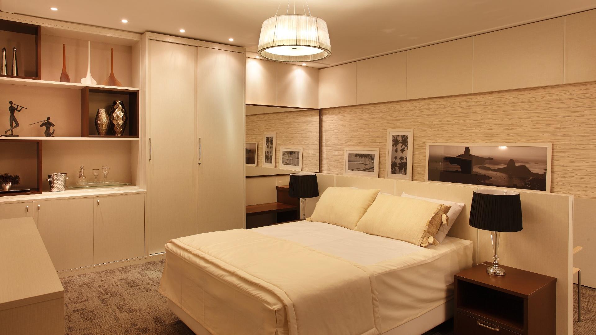 Quarto Standard Hotelaria criado por Bianca Pesce. A mostra Morar Mais por Menos RJ segue até dia 4 de novembro de 2012, na Av. Epitácio Pessoa, 4.866, Rio de Janeiro