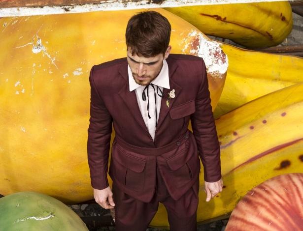 Modelo mostra look da coleção Inverno 2013 do estilista João Pimenta, que será apresentada durante do SPFW - Felipe Costa/Divulgação