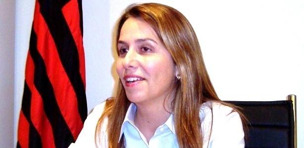 Patricia Amorim concede entrevista ao UOL Esporte em seu gabinete, na Gávea
