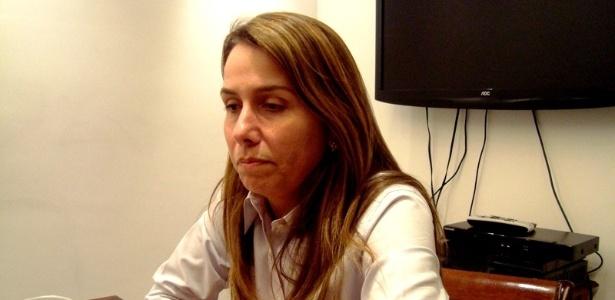 Patricia Amorim conversa com a reportagem do UOL Esporte durante entrevista