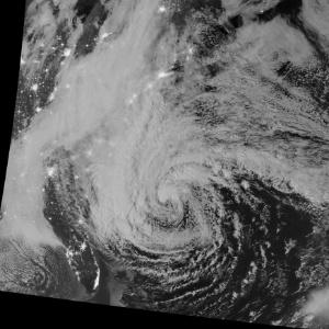 Furacão Sandy é retratado por imagens de satélite divulgadas pela Nasa