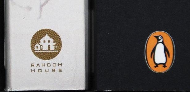 Símbolos das editoras Random House e Peguin, que anunciaram fusão (29/10/12) - Andy Rain/EFE