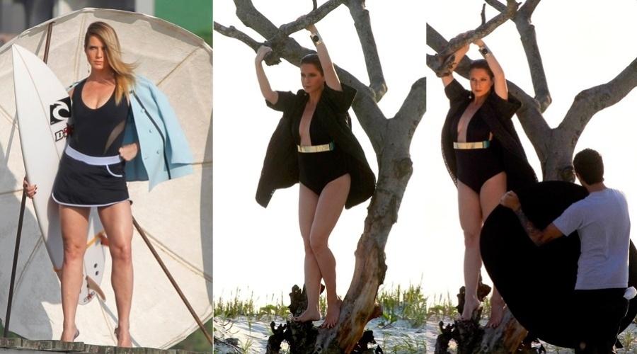 Letícia Spiller fez um ensaio fotográfico na Barra da Tijuca, zona oeste do Rio (29/10/12). A atriz está no ar em
