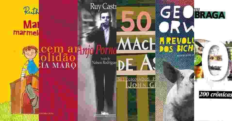 Montagem capas de livros - Montagem/Divulgação