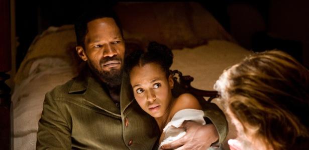 """Jamie Foxx e Kerry Washington em cena de """"Django Livre"""", novo longa de Quentin Tarantino - Divulgação/Sony Pictures"""