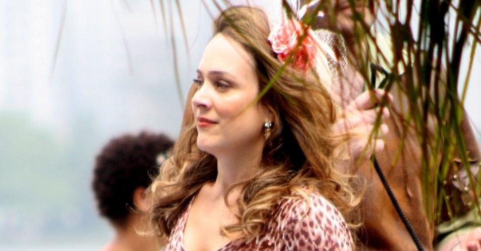A atriz Gabriela Duarte grava cenas do filme