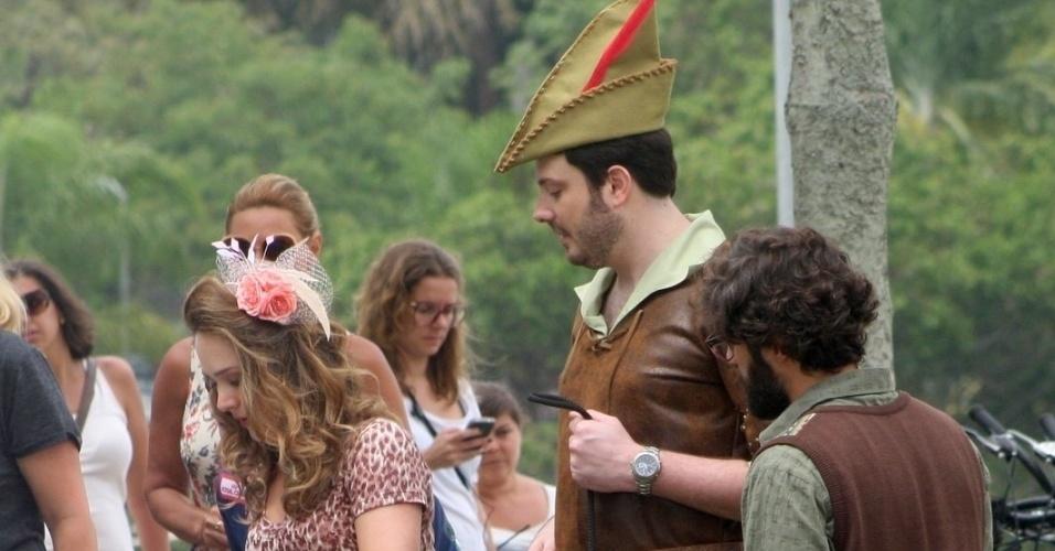 Danilo Gentili, Bruno Gagliasso e Gabriela Duarte gravam cenas do filme