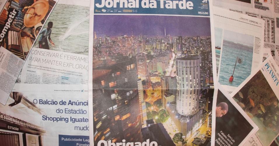 """31.out.2012 - Capa da primeira página do """"Jornal da Tarde"""" desta quarta-feira, última do jornal, que deixará de circular. O Grupo Estado, que edita o jornal, alegou redução de custos para fechar o periódico"""