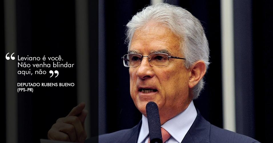 31.out.2012 - ?Leviano é você. Não venha blindar aqui, não?, respondeu o deputado Rubens Bueno (PPS-PR) a Picciani