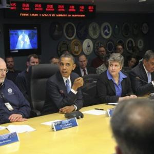 Obama se reúne com o departamento de gerenciamento de emergências dos EUA - Martin H. Simon/Efe