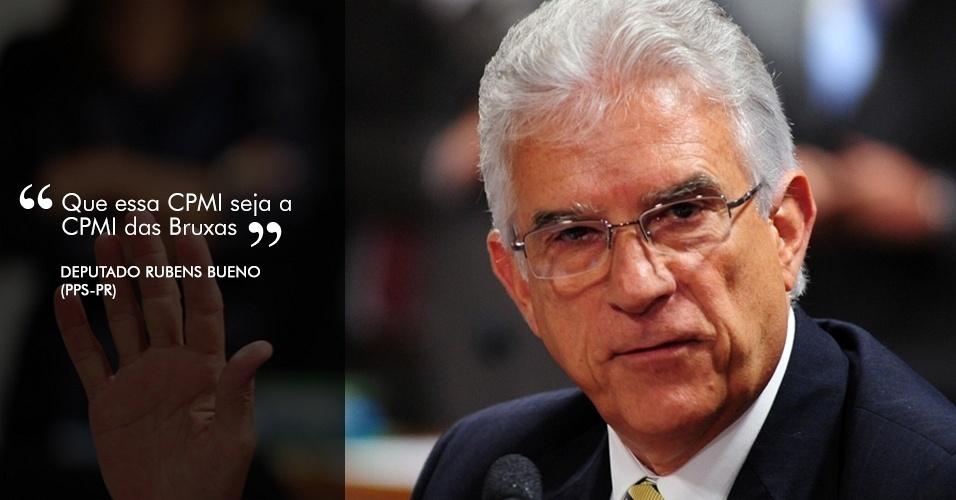 """31.out.2012 - """"Que essa CPMI seja a CPMI das Bruxas"""", afirmou o deputado Rubens Bueno (PPS-PR) em referência do Dia das Bruxas, comemorado hoje nos Estados Unidos"""