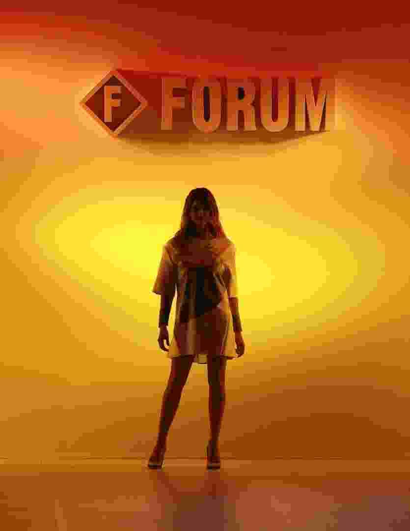 A apresentador e atriz Fernanda Lima abre o desfile da Forum para o Inverno 2013 no SPFW (31/10/2012) - Alexandre Schneider/UOL