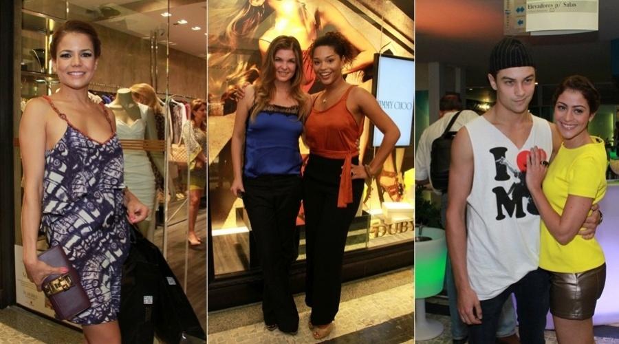 As atrizes Nívea Stelmann, Cristiana Oliveira, Juliana Alves e Carol Castro prestigiaram um evento organizado por uma revista moda no Rio (31/10/12). Carol foi acompanhada do namorado, o modelo Raphael Sander