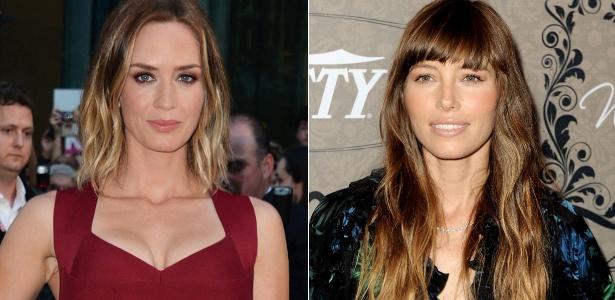 Pontas claras, como as das atrizes Emily Blunt e Jessica Biel, combinam com o clima quente da estação - Getty Images
