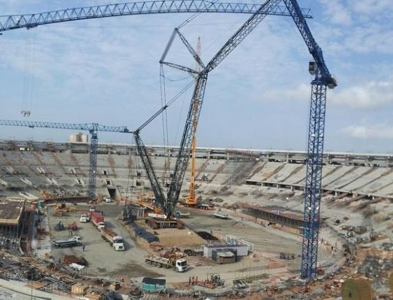 Estádio do Maracanã (RJ) em reforma em outubro de 2012