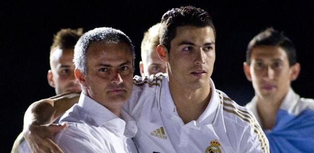 José Mourinho e Cristiano Ronaldo trabalharam juntos no Real Madrid - AFP PHOTO/ Jaime REINA