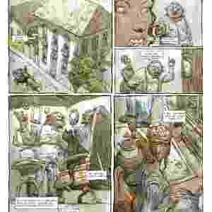 """Página do quadrinho de """"Clara dos Anjos"""", adaptação da obra póstuma do autor - Reprodução"""