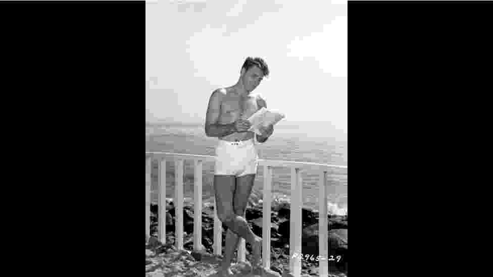 """Burt Lancaster em imagem de """"Hollywood Unseen"""". Um livro e uma exposição em Londres, intitulados """"Hollywood Unseen"""", mostram fotos nunca vistas antes de grandes estrelas da chamada """"era de ouro"""" de Hollywood - Hollywood Unseen/Getty/John Kobal Foundation"""