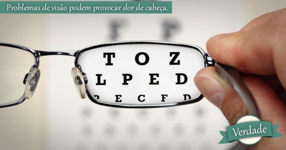 problemas de visão, óculos, mitos e verdades