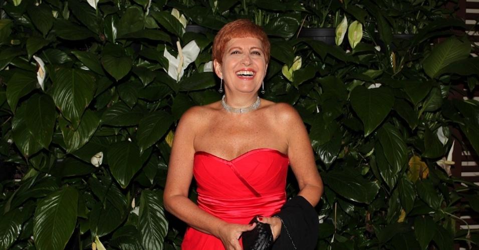 """Rosana Hermann prestigiou o casamento de Daniel Zukerman, o Impostor do """"Pânico da Band"""" (1/11/12). A cerimônia foi realizada em uma casa de festas no bairro do Itaim-Bibi, em São Paulo"""