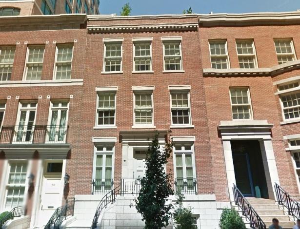Fachada da casa de Marc Jacobs, na rua Bethune, em Nova York - Reprodução/Google Maps