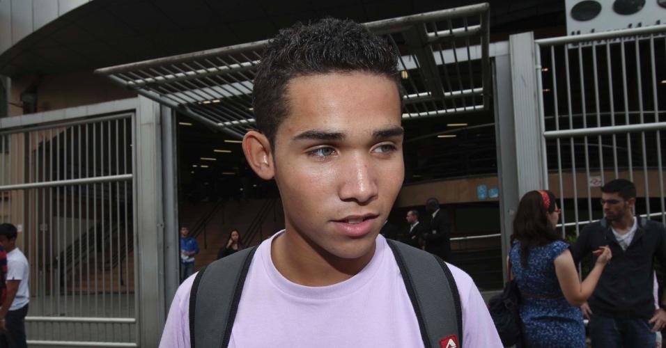 4.nov.2012 - Bruno Sepulveda, 18, de SP, achou a prova de matemática mais fácil.