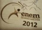 """Candidato teria desenhado personagem """"Marcelinho lendo contos eróticos"""" na prova do Enem 2012; foto foi postada no FB - Reprodução/Facebook"""