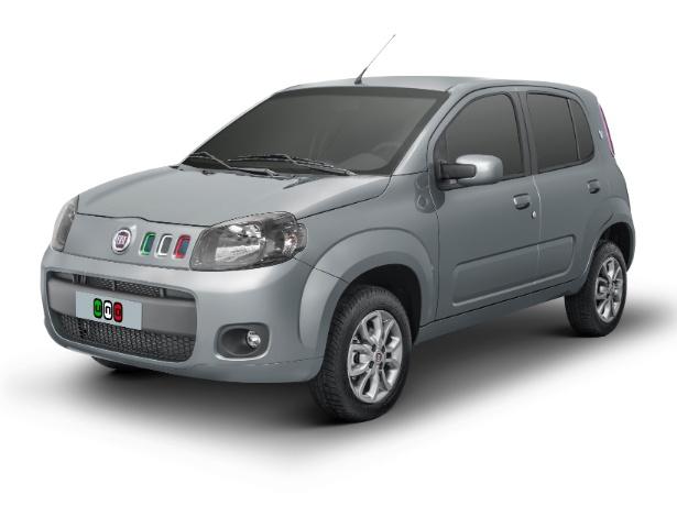 Fiat Uno Série Itália é montado sobre a versão Vivace (básica) de quatro portas - Divulgação