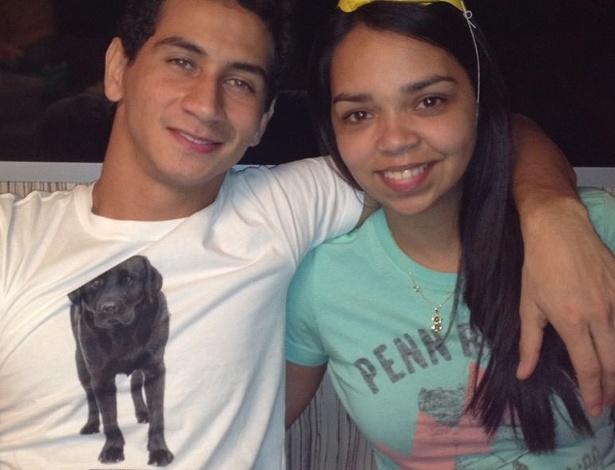Foto do jogador Paulo Henrique Ganso com a irmã mais velha, Paula