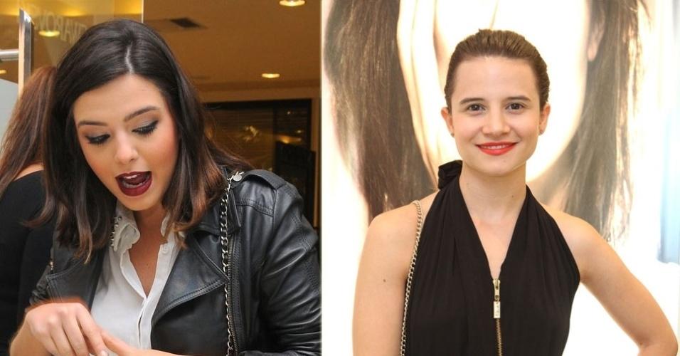 Giovanna Lancellotti e Bianca Comparato na inauguração de boutique no Shopping Leblon (6/11/12)