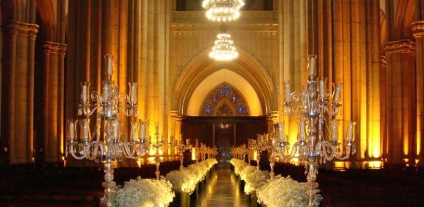 Nave da Catedral da Sé, no centro da capital paulista, decorada para cerimônia - Múltipla Eventos/Divulgação