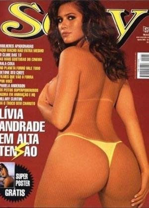 A atriz Lívia Andrade, em ensaio da revista